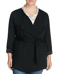 Nydj Plus Belted Blazer Black