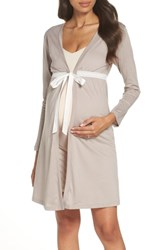 Belabumbum Maternity Nursing Robe Soft Grey