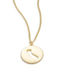 Kate Spade State Of Mind California Pendant Necklace Gold