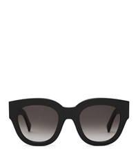 Reiss Cleo Monokel Eyewear Acetate Sunglasses In Black