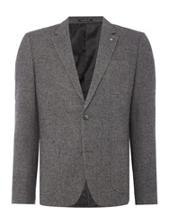 Peter Werth Men's Aston Textured Wool Mix Blazer Grey