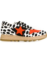 Stella Mccartney Contrast Print Sneakers Black
