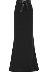 Alexander Mcqueen Bow Embellished Crepe Maxi Skirt