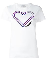 Carven Heart T Shirt White