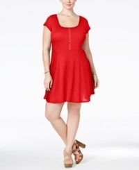 Love Squared Plus Size Short Sleeve Fit And Flare Dress