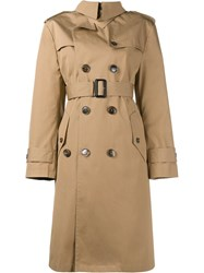 Balenciaga Swing Trenchcoat Nude And Neutrals