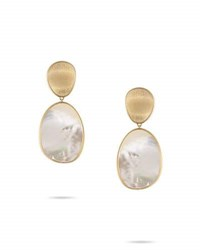 Marco Bicego Lunaria Large Mother Of Pearl Drop Earrings In 18K Gold