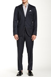 Tiger Of Sweden Gray One Button Peak Lapel Wool Suit