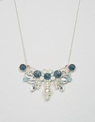 Johnny Loves Rosie Pearl And Stone Statement Necklace Mint Multi