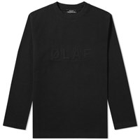 Olaf Hussein Long Sleeve Raised Tee Black