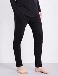 Chalmers Alice Bamboo And Cotton Blend Pyjama Bottoms Black Marle