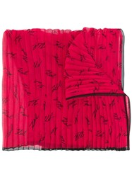 Karl Lagerfeld Signature Scarf Red