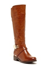 Godiva Amanda Textured Riding Boot Brown