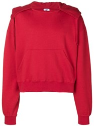 Cmmn Swdn Basic Hoodie Red