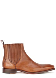Jeffery West Bauhaus Brown Leather Chelsea Boots