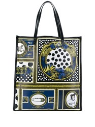 Versus Printed Shopper Black