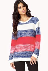 Forever 21 Thick Striped Knit Sweater