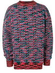Calvin Klein 205W39nyc Patterned Knit Jumper Red