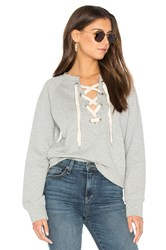 Sincerely Jules Front Lace Sweatshirt Gray