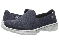 Skechers Go Walk 4 Navy White Women's Slip On Shoes Blue