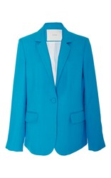 Adam By Adam Lippes Linen And Silk Blazer Blue