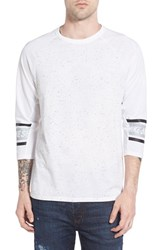 Nike Men's Sb Nepped Three Quarter Sleeve Dri Fit T Shirt White