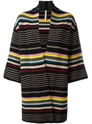 Antonio Marras Striped Cardi Coat Multicolour