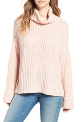 Leith Chunky Turtleneck Sweater Pink
