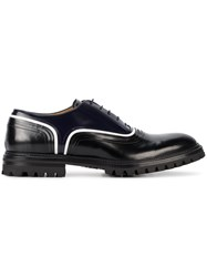 Weber Hodel Feder White Stripe Oxford Shoes Men Leather Rubber 40 Black
