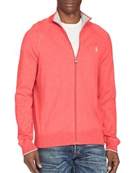 Polo Ralph Lauren Cotton Full Zip Sweater Red