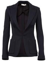 Faith Connexion Peaked Lapel Blazer Blue