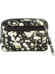 Givenchy Floral Print Clutch Black