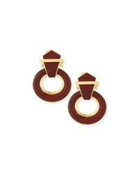 18K Gold Heartwood Buckle Earrings David Webb
