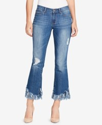 William Rast Frayed Cuff Skinny Jeans Side To Side