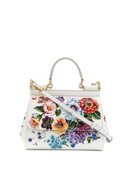 Dolce And Gabbana Small Sicily Shoulder Bag White