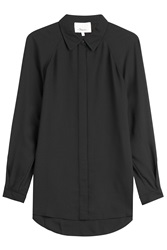 3.1 Phillip Lim Blouse With High Low Hem Black