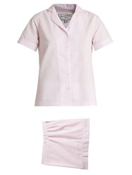 Hvn Alice Striped Seersucker Pyjama Set Pink Stripe