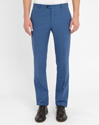 Melindagloss Blue Classic Straight Trousers