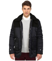 Members Only Nordic Jacket W Faux Fur Collar Air Force Men's Coat Blue