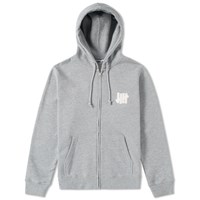Undefeated Chest Strike Zip Hoody Grey
