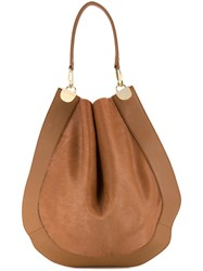 Diane Von Furstenberg Bucket Shoulder Bag Women Calf Leather One Size Brown