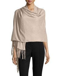 Minnie Rose Cotton Fringe Trim Wrap Taupe Heat