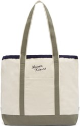 Maison Kitsune Off White Richelieu Tote Bag