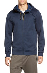 Bench 'Attrition' Trim Fit Funnel Neck Zip Hoodie Total Eclipse Marl