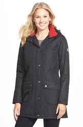 Women's Barbour 'Kirby' Hooded Quilted Coat