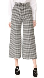 A.W.A.K.E. Checkered Culottes Black And White Check