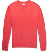 Hartford Cotton Jersey Sweatshirt Red