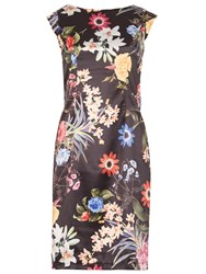 Izabel London Photo Bloom Dress Multi Coloured Multi Coloured