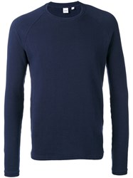 Aspesi Japanese Yarn Sweatshirt Men Cotton Xxl Blue