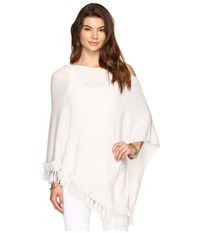 Lilly Pulitzer Limonada Cashmere Wrap Heathered Pb Grey Women's Sweater White